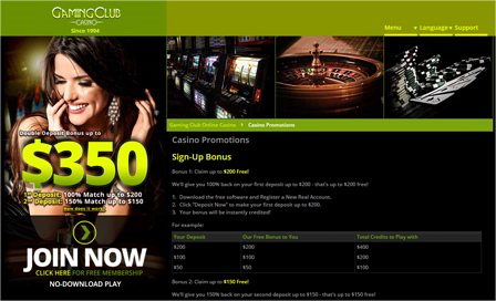 Amazing Special Offers at Gaming Online Casino