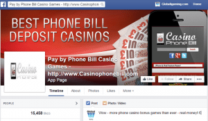 Telefon Bill Casino Games yetirin