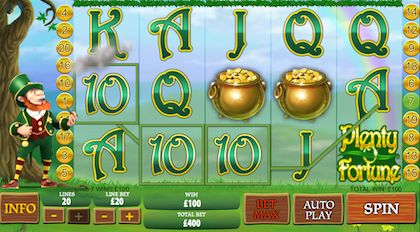 Check out this week's featured game, Pots o Plenty where you could win as much as £3,000 from betting as little as 2p per spin!