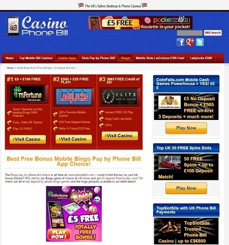 online casino mobile phone deposit