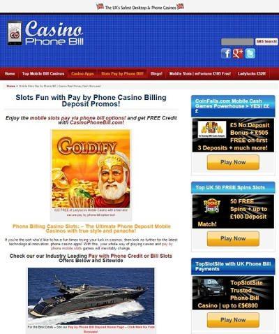 casino phone bill deposit