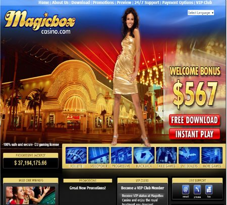 Online Magic Box Casino