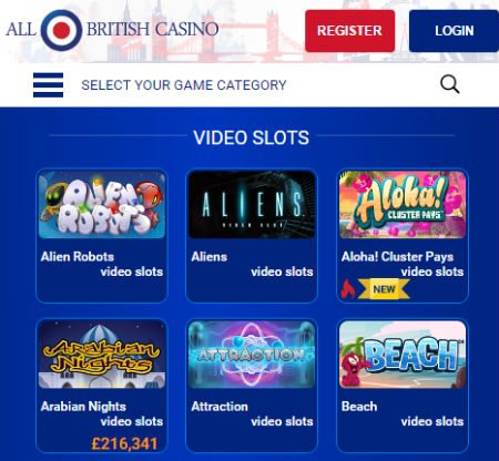 Bonus at All British Casino